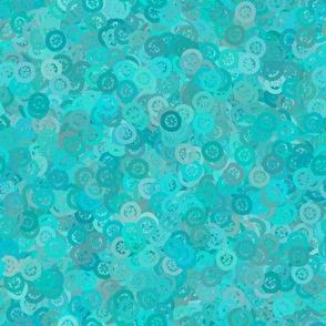 Flowerbutton - Turquoise