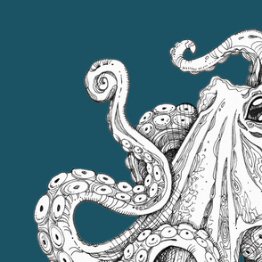 teal octopus wall hanging