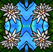 Tropical Water Lily in Tiffany Style