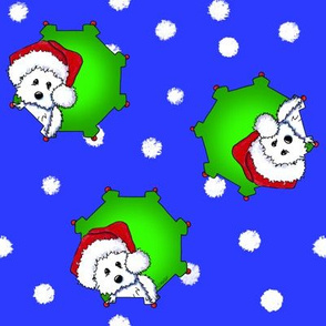 Christmas KiniArt Westies LG