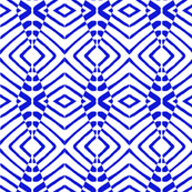 Tribal Blue and White
