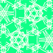 Starry Doodle Clean Green