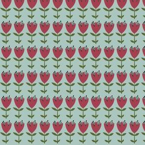 floral stripe - winter