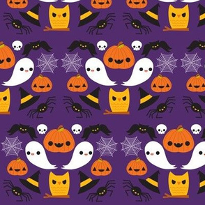 Pumpkins & Ghosts Purple