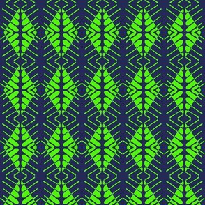 Tribal Sentries Lime Navy