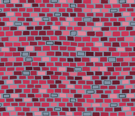 City Brick Wall in Red