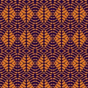 Tribal Shields Navy Orange