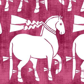 Ancient Parade Horses Linen