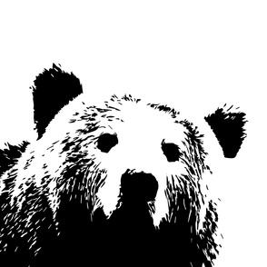 """Custom 3 yard 56"""" black bear"""