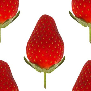 Strawberries - Huge Strawberry photo repeating pattern