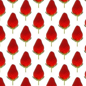 Strawberries - Small Strawberry photo repeating pattern