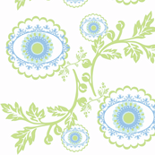 Vintage Garden blue blossom