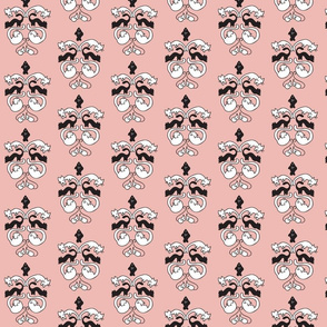 Cat Damask pattern