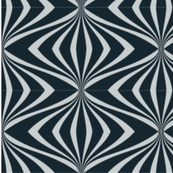 Art deco chic elegant black grey pattern