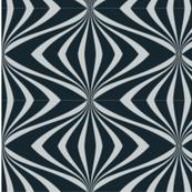 Art deco chic elegant black grey pattern