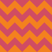 bikini orange chevron