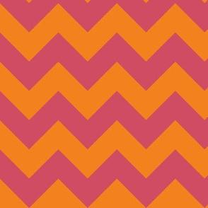 bikini orange chevron