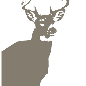 Large Buck Crib Sheet // Brown