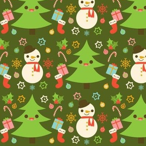 Holiday Pattern Green