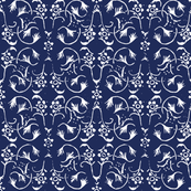 Vintage Belle - Bright Navy