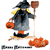 Little Halloween Witch with text