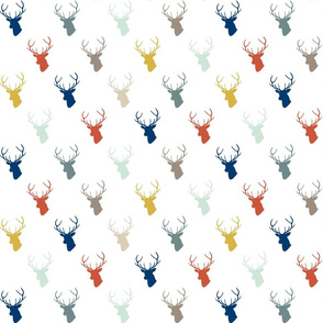 Modern Deer with Navy small scale