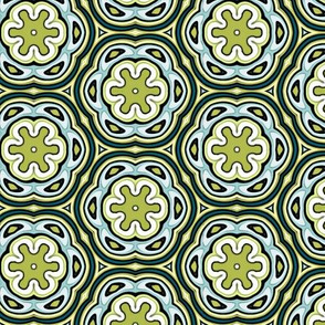 Green & Blue Irish Rings Design