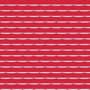 Christmas Scallop lace stripes