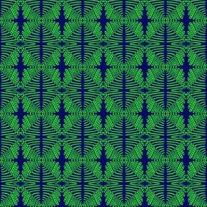 Tribal Crosses Green Blue