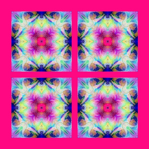 Abstract  Flowers  pink -pillow