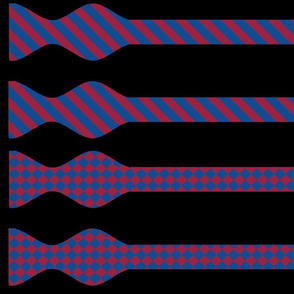 School Colors Bow Ties Yale Blue and Red