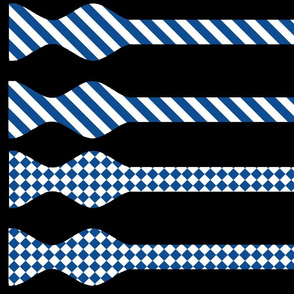 School Colors Bow Ties Yale Blue and White