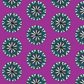 Purple /Turquoise Star Flower