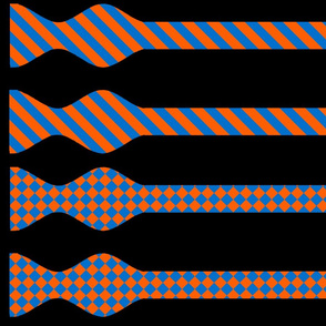School Colors Bow Ties Blue and Orange