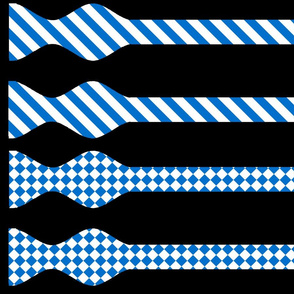 School Colors Bow Ties Blue and White