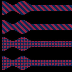 School Colors Bow Ties Maroon and Navy