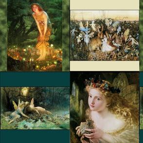vintage fairy squares