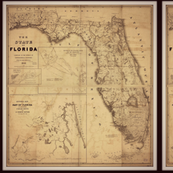 florida vintage map, small