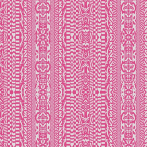 Silly Stripes pink and white