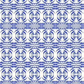 Native Sentries Blue White