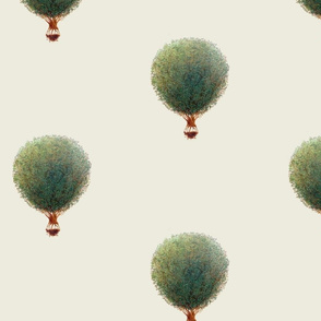 "Tree Hot Air Balloons Floating ""Love Your World"""