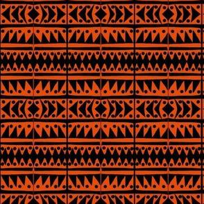 Sawtooth Orange Black