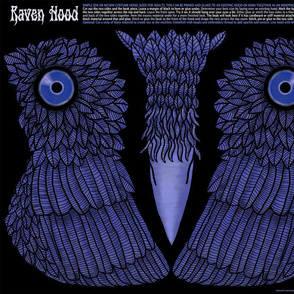 Raven Hood - child size, small