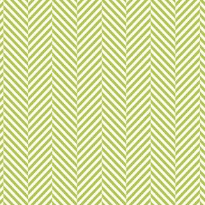 herringbone lime green