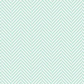 herringbone mint green