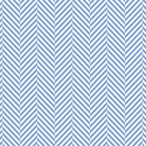 herringbone cornflower blue