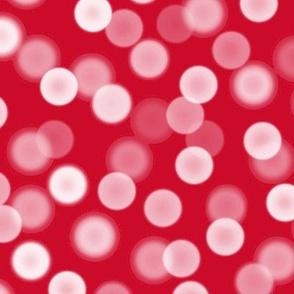 bokeh lights - Christmas red
