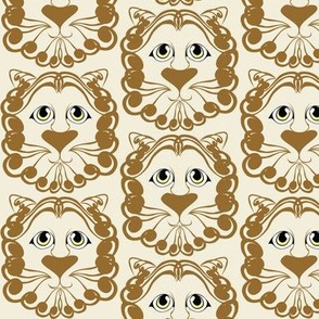 Lion Damask Gold