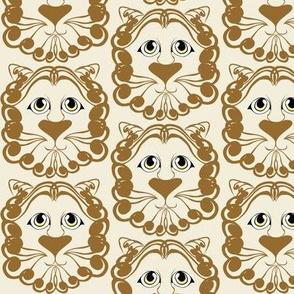 Lion Damask Gold