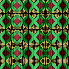 Weaving Red Green Gold